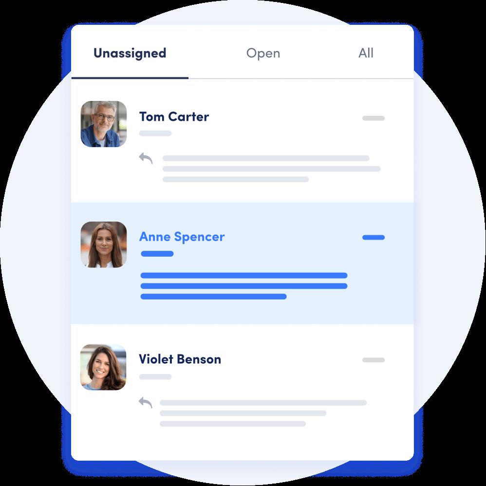 Messagely customer messaging platform with shared inbox