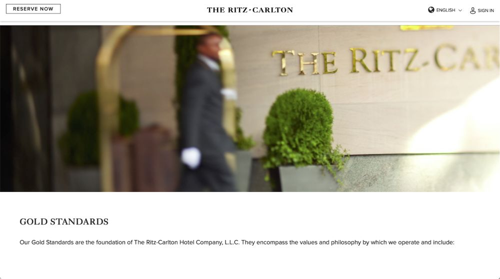 Ritz-Carlton Customer Service Philosophy