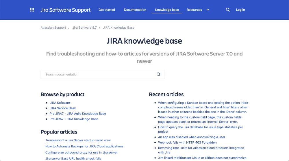 Jira Knowledge base