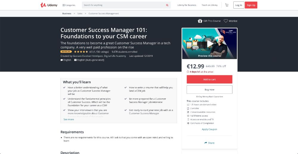Customer Success Manager 101