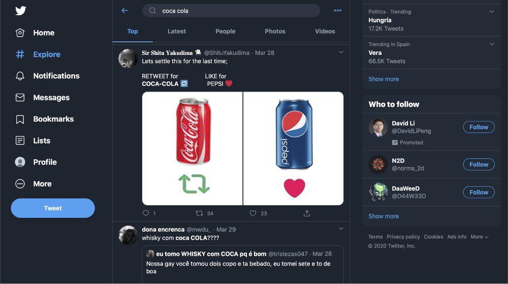 Social media threads