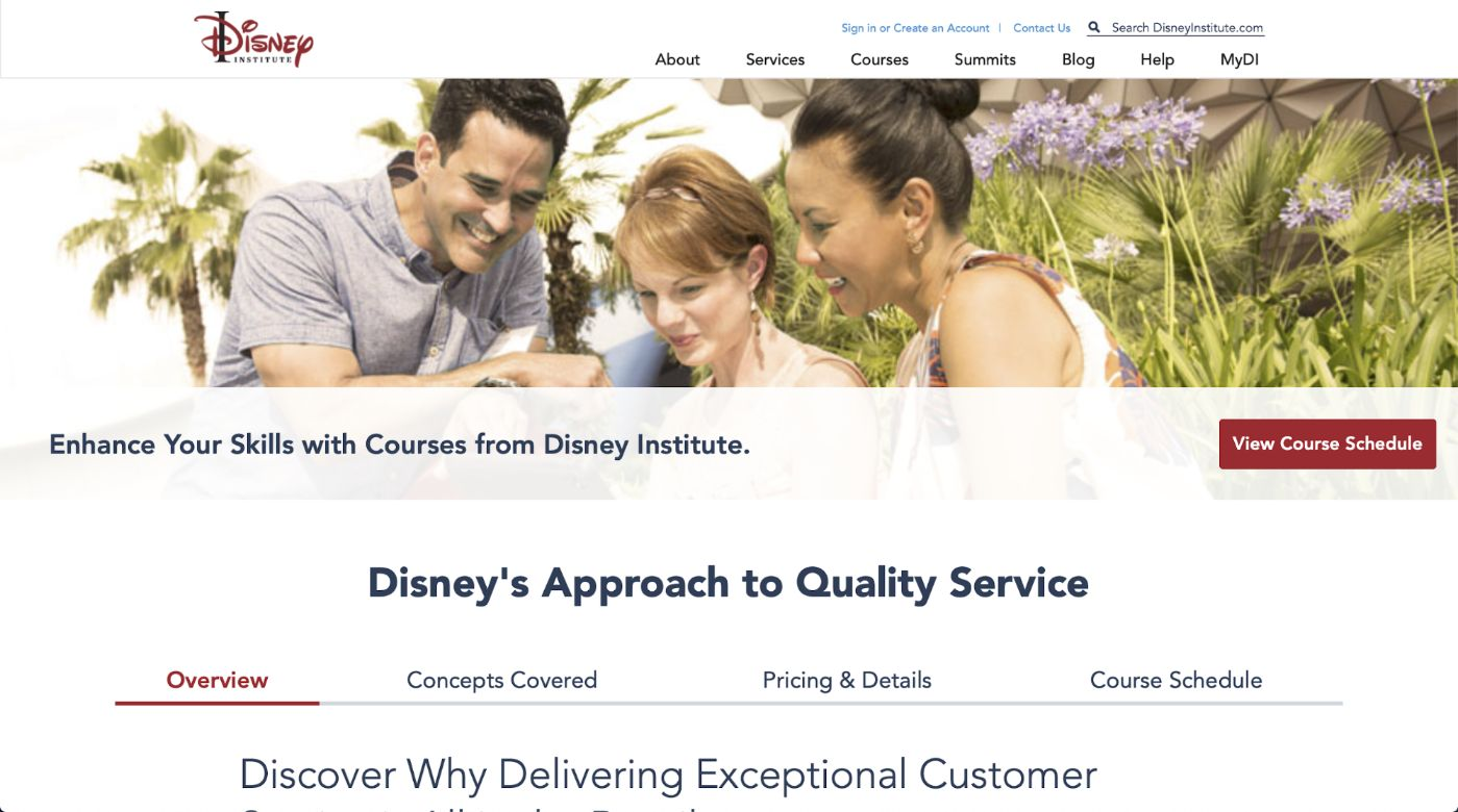 Disney Customer Service Training