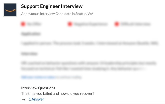 Amazon Support Engineer Interview