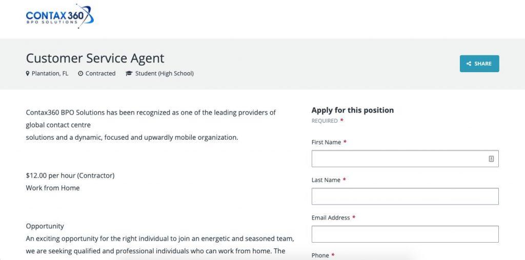 Customer Service Agent Job Description