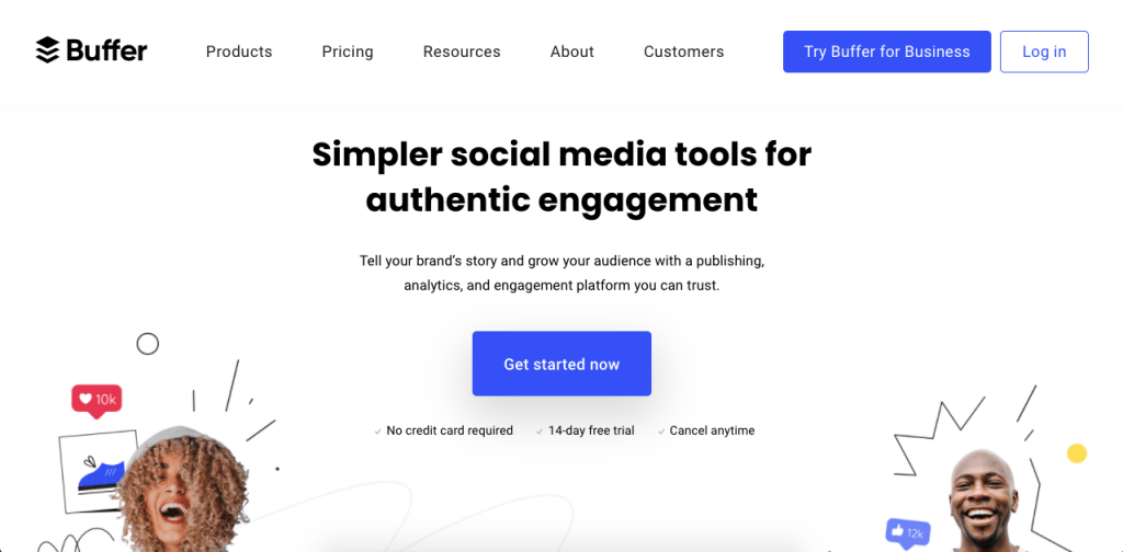 Buffer is a great social customer service tool with multiple plans to tailor your needs.