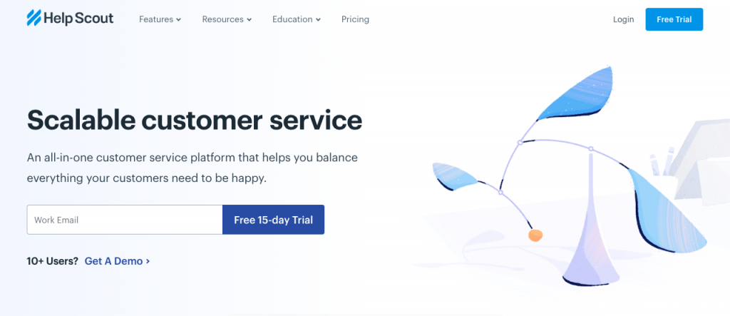 Help Scout is a feature-packed customer service suite with live chat, help desk, knowledge bases, and powerful integrations.