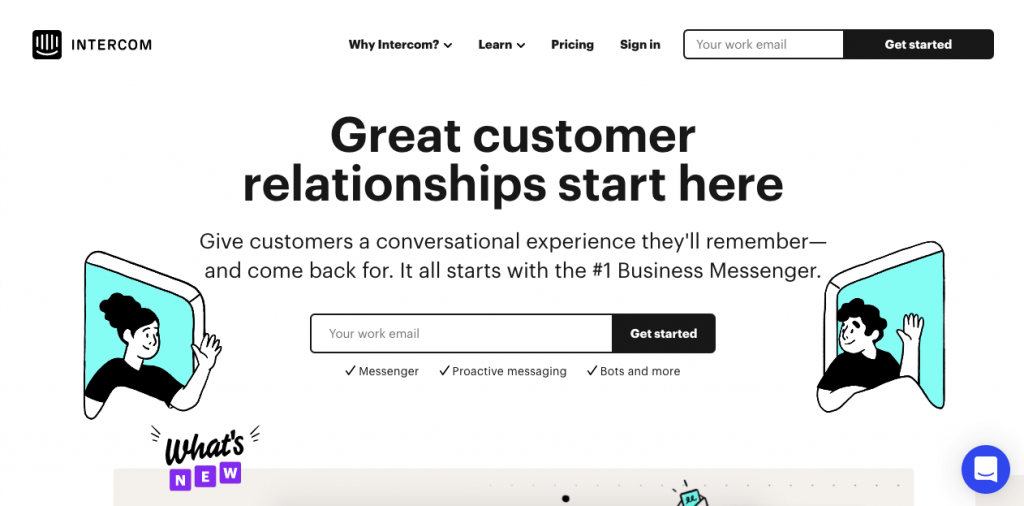 The self-defined Conversational Relationship Platform, Intercom is a popular customer service solution with very attractive features.