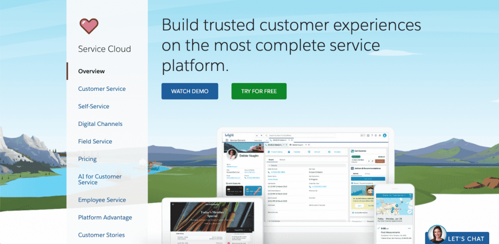 Salesforce Service Cloud is another CRM platform filled with useful features.
