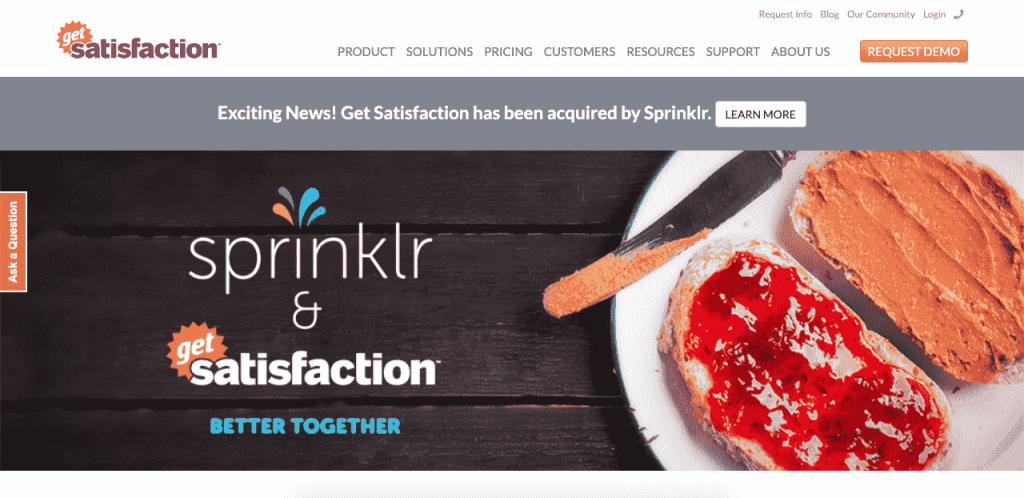 GetSatisfaction makes it easy for customers to provide feedback through a more social experience.