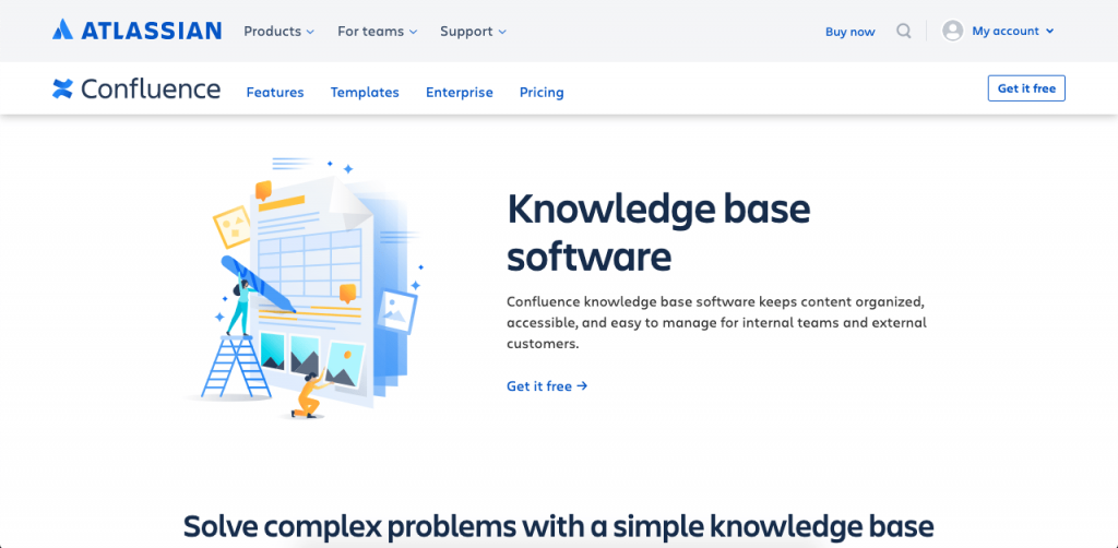 Atlassian Confluence is the company behind popular business tools like Jira and Trello, so its knowledge base solution is just as intuitive and as user-friendly as you'd expect.