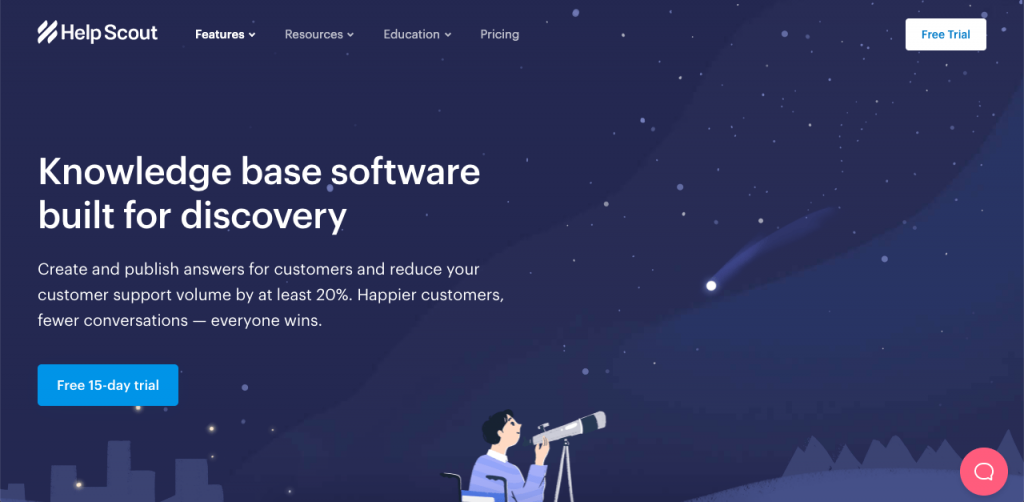 Help Scout is a simple knowledge base solution with a powerful free version, which is great for freelancers and small businesses that can't really afford to pay a lot of money for their knowledge bases.