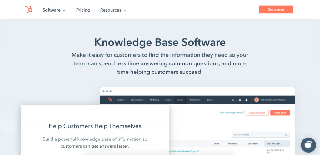 One of the largest names in customer service is HubSpot, so it's not surprising that its service hub includes a powerful knowledge base software.