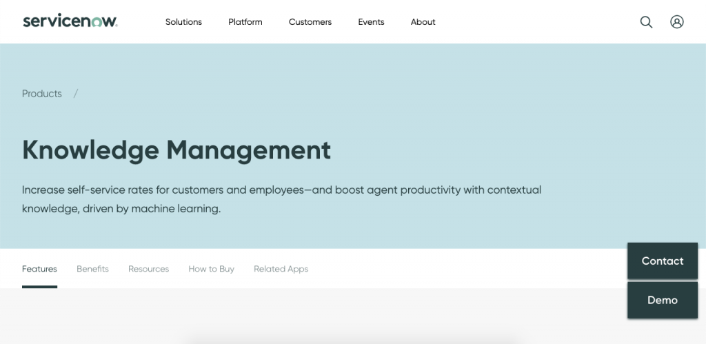 ServiceNow Knowledge Management is a very efficient and easy to use tool for knowledge base development.