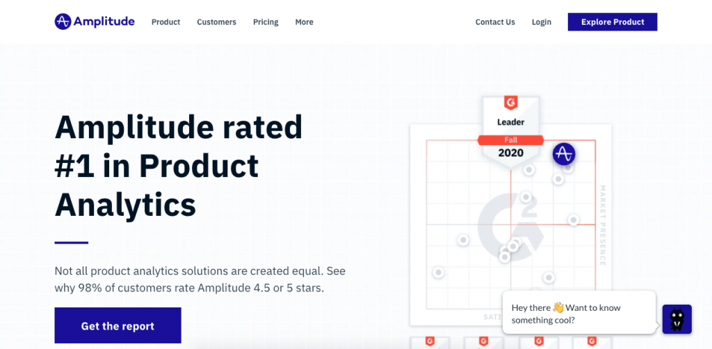 "With the mantra: ""We help teams build better products"", Amplitude really delivers on its user onboarding analytics and data."