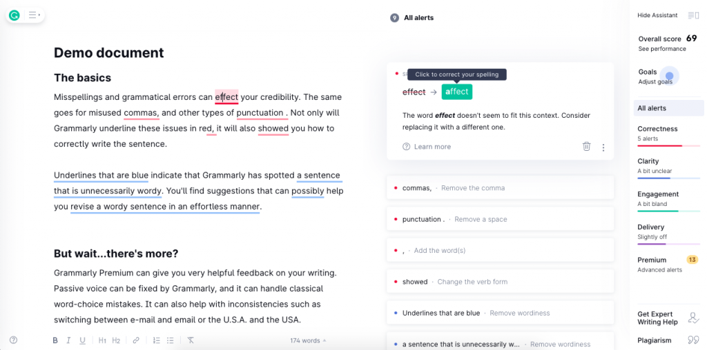 Grammarly is a popular platform that assists writers with grammar and includes many more fine-tuned suggestions.