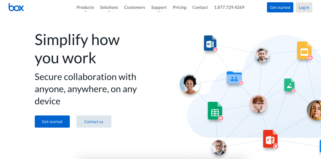 Box is a cloud-based platform for content management, storing, team collaboration, and workflows.