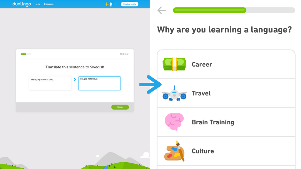Created in 2011, Duolingo famously has a great onboarding experience, but it wasn't always like that.