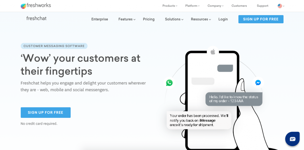 Backed up by Freshworks, Freshchat is a powerful live chat that integrates well with other customer service tools and all your social media.