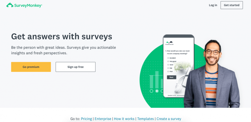 SurveyMonkey is a customer service tool that gives you all the customer survey templates you may need, as well as powerful insights and product feedback.