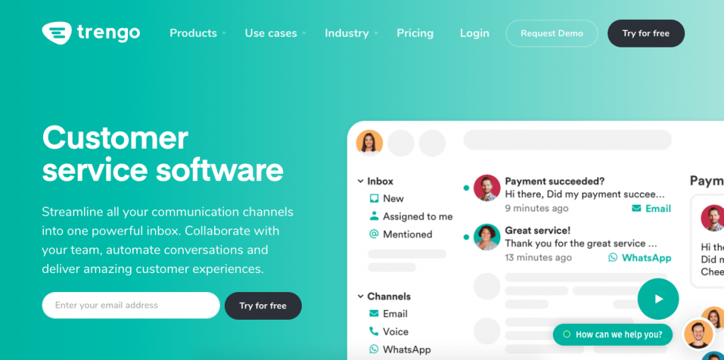 Trengo is an integrated inbox app with notable clients such as Volkswagen, Oppo, Audi, and Cold Jet.