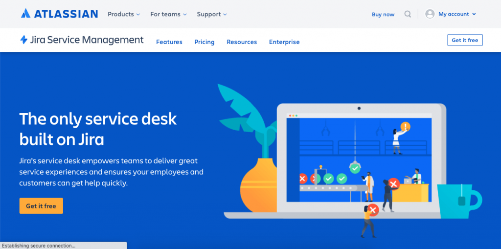 Jira Service Desk is a great collaborative platform with tons of functionality for your business.