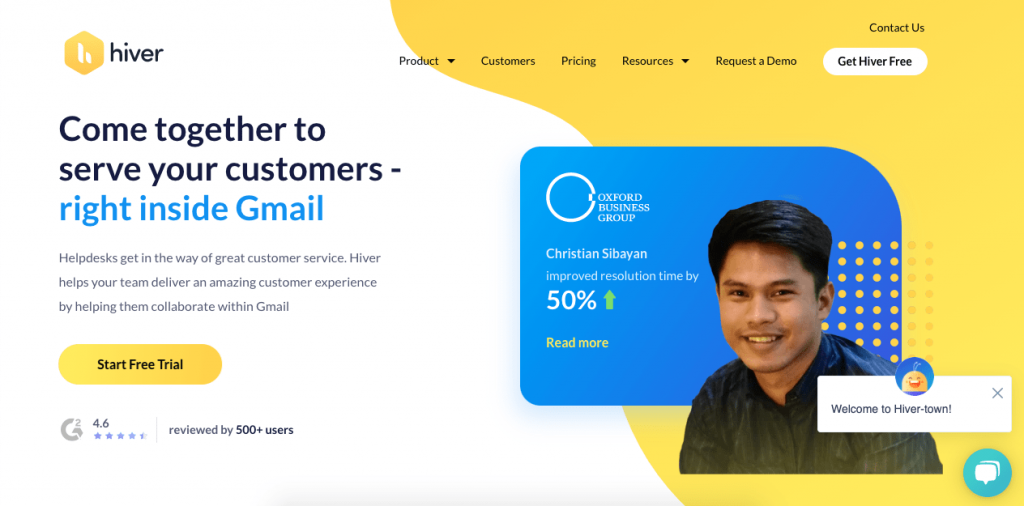 Hiver is a Gmail-focused customer service platform that's great for team collaboration.