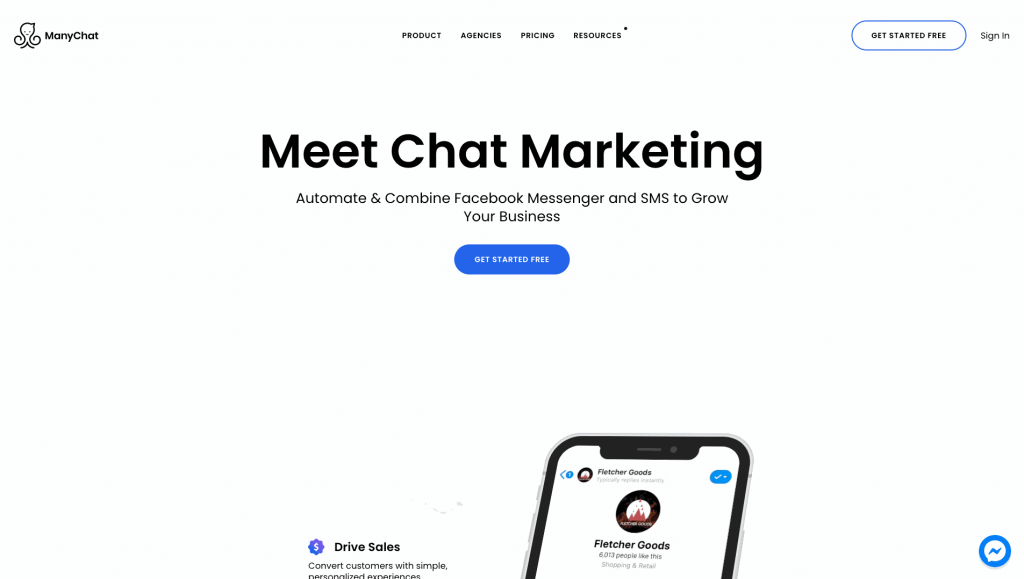 ManyChat is a popular Facebook chatbot creator.