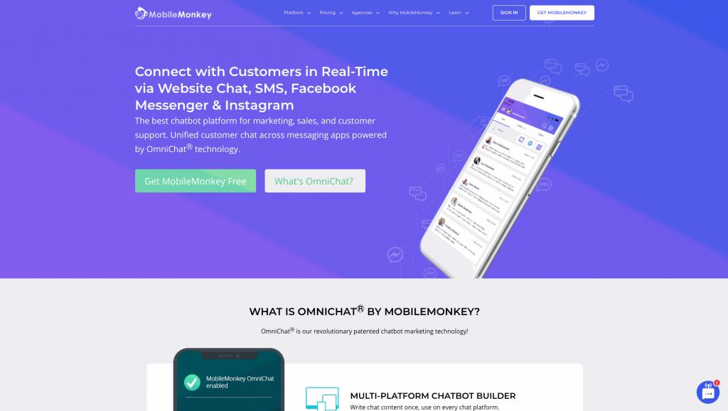 MobileMonkey is a chatbot building platform focused on Facebook chatbots