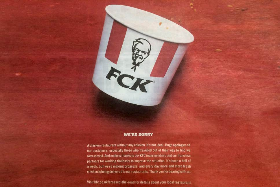 KFC used proactive customer support to get ahead of the problem, take control of the narrative, and find a way to use the crisis as an advantage.