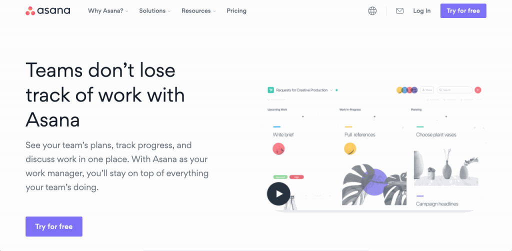 Asana is a popular online task and team manager for paperless communication.