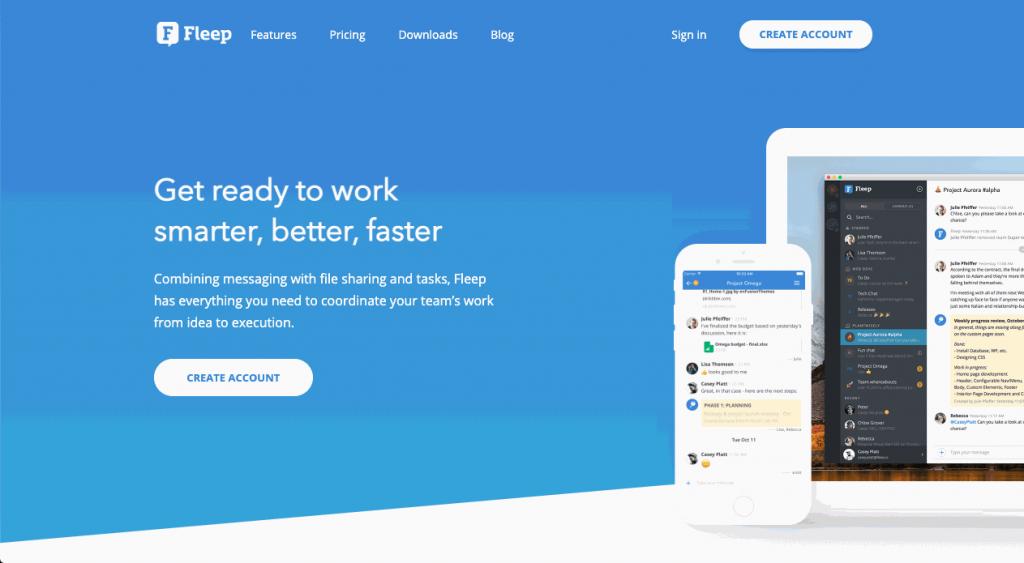 Fleep is a messaging app focused on internal company messaging