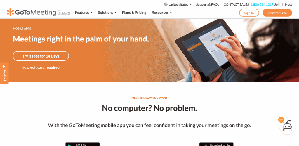 GoToMeeting is a mobile video conferencing tool.