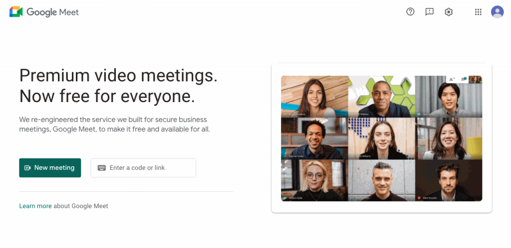 Google Meet works flawlessly on all devices, improving the experience of the standard Google Hangouts
