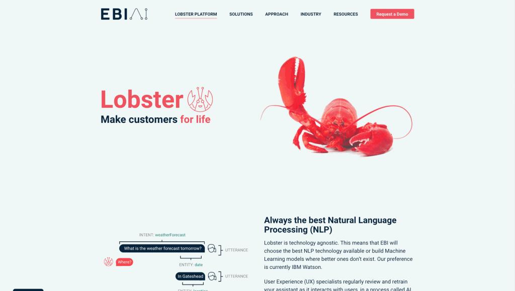 EBI.AI's Lobster platform helps companies create advanced chatbots.