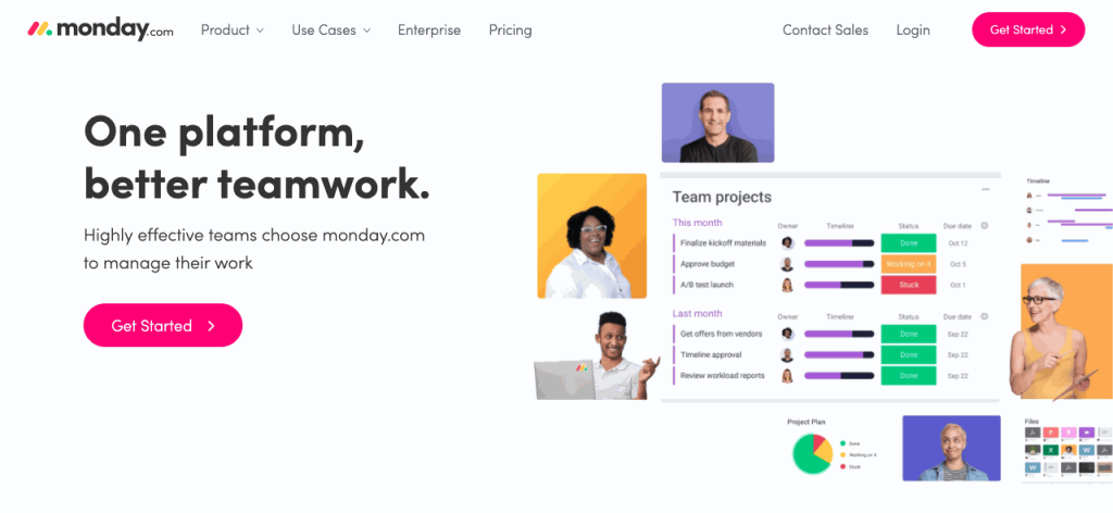 monday.com is a popular online collaboration tool.