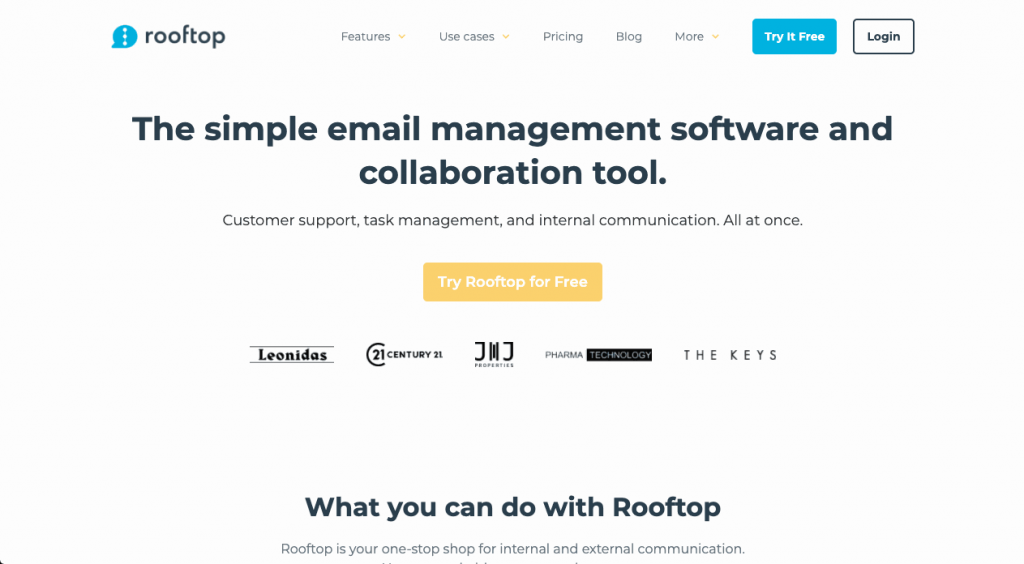 Rooftop is a project and email management software tool, made to primarily handle email projects