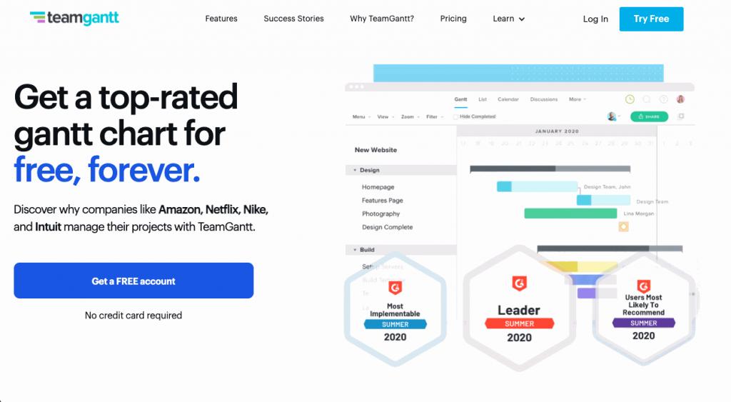 TeamGantt is an award-winning online project management solution built around Gantt charts.