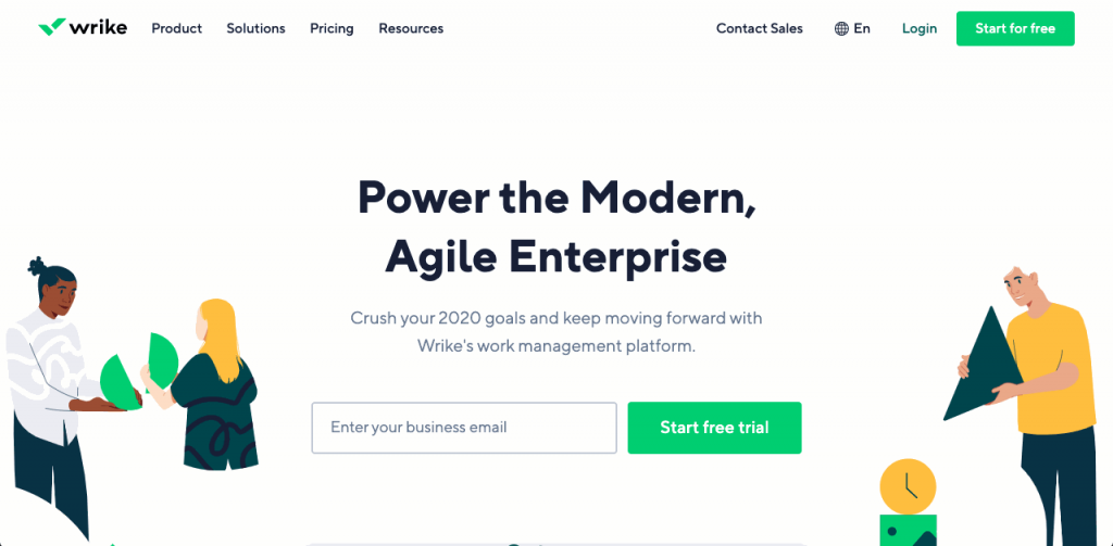 Wrike is a project management tool that simplifies documentation through file sharing, document management and expense tracking.