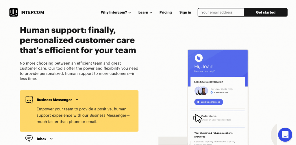 Users report intercom being easier to use than Zendesk.